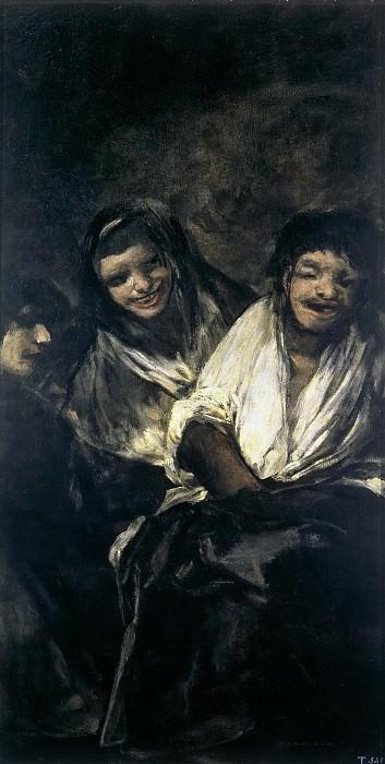 Goya y Lucientes, Francisco de -- Dos mujeres y un hombre. Part 2 Prado Museum