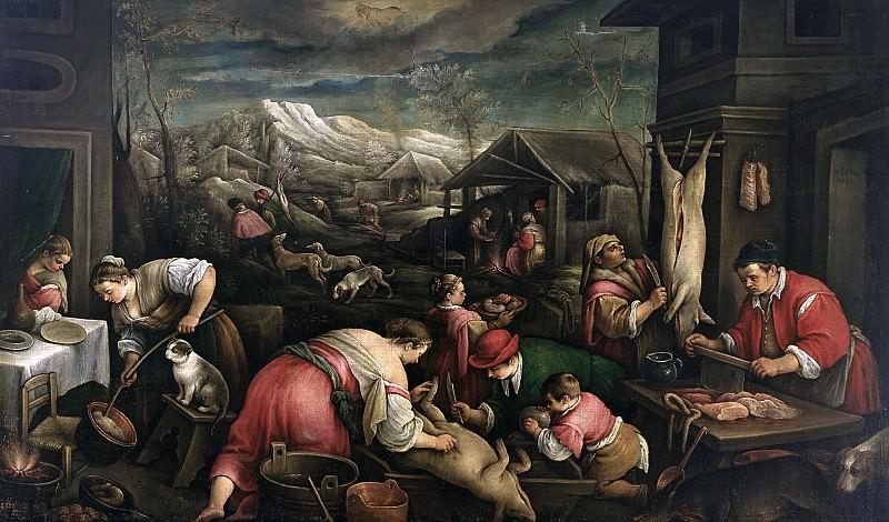 Bassano, Francesco -- Diciembre (Capricornio). Part 2 Prado Museum