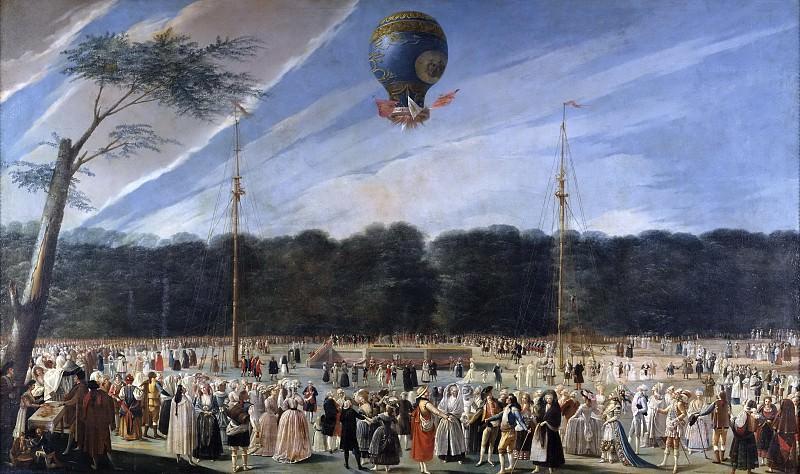 Carnicero, Antonio -- Ascensión de un globo Montgolfier en Aranjuez. Part 2 Prado Museum