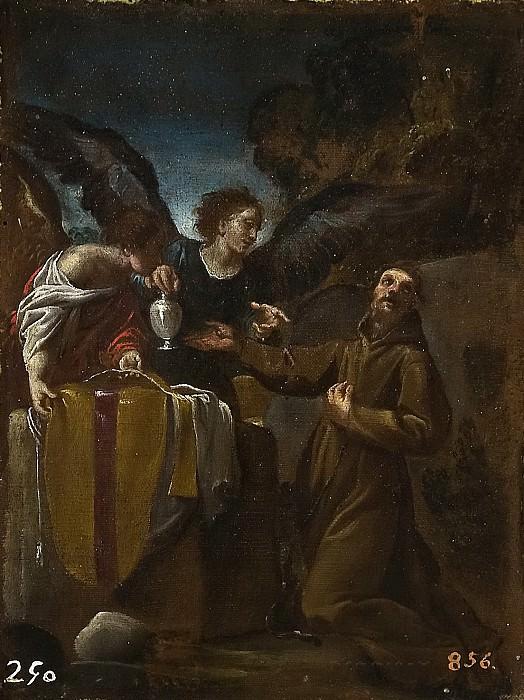 Карраччи, Лодовико (приписывается) -- Св Франциск с двумя ангелами. Часть 2 Музей Прадо