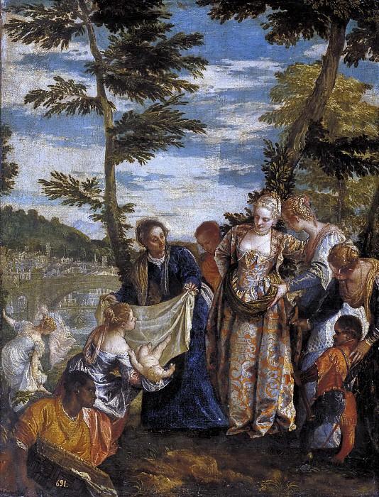 Veronese, Paolo -- Moisés salvado de las aguas. Part 2 Prado Museum