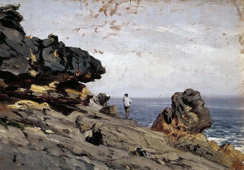 Haes, Carlos de -- Playa de Lequeitio. Atalaya. Part 2 Prado Museum