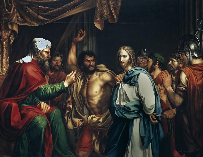 Madrazo y Agudo, José de -- Jesús en casa de Anás. Part 2 Prado Museum