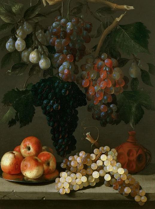 Эспиноса, Хуан Баттиста де -- Натюрморт с виноградом, яблоками и сливами. Часть 2 Музей Прадо