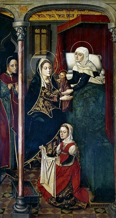 Maestro de Miraflores -- El nacimiento de San Juan Bautista. Part 2 Prado Museum