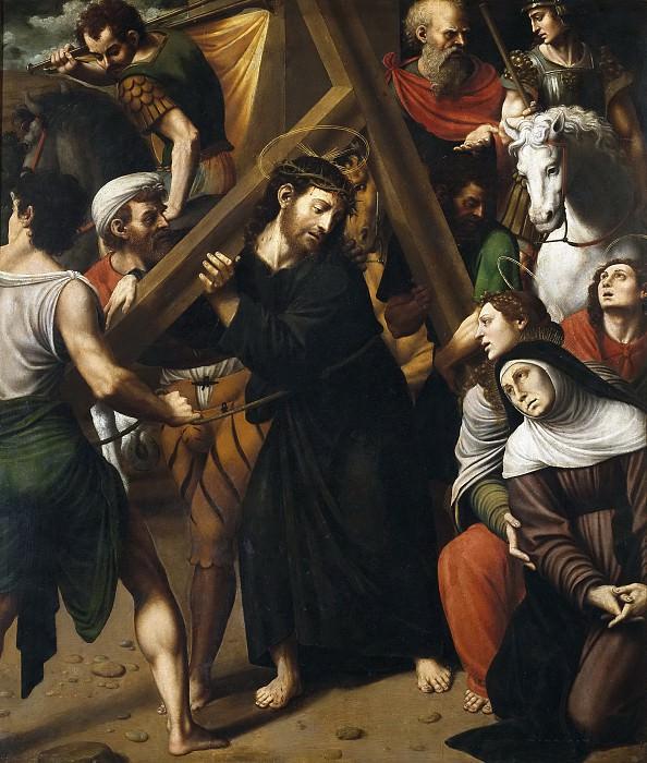 Macip, Vicente Joanes -- Cristo con la Cruz a cuestas. Part 2 Prado Museum