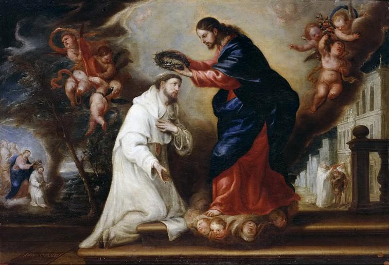 González de la Vega, Diego -- San Ramón Nonato coronado por Cristo. Part 2 Prado Museum