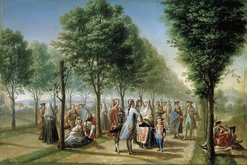 Bayeu y Subías, Francisco -- El paseo de las Delicias, en Madrid. Part 2 Prado Museum