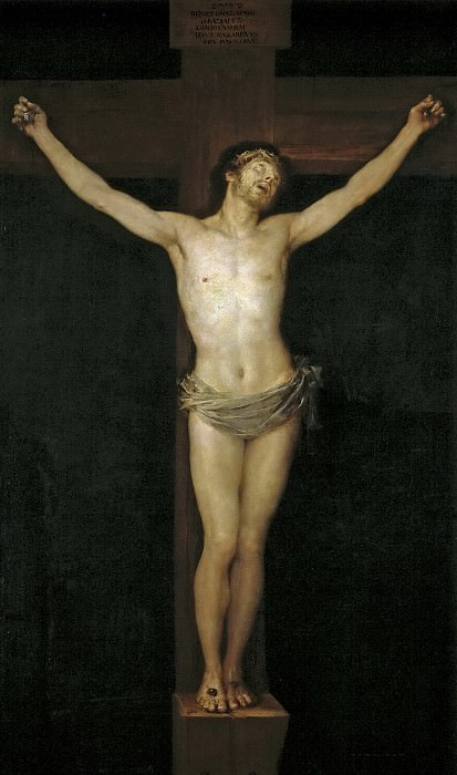 Goya y Lucientes, Francisco de -- Cristo crucificado. Part 2 Prado Museum