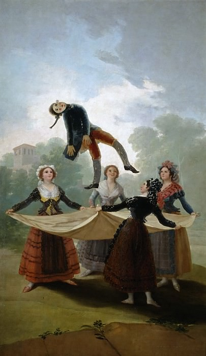 Goya y Lucientes, Francisco de -- El pelele. Part 2 Prado Museum