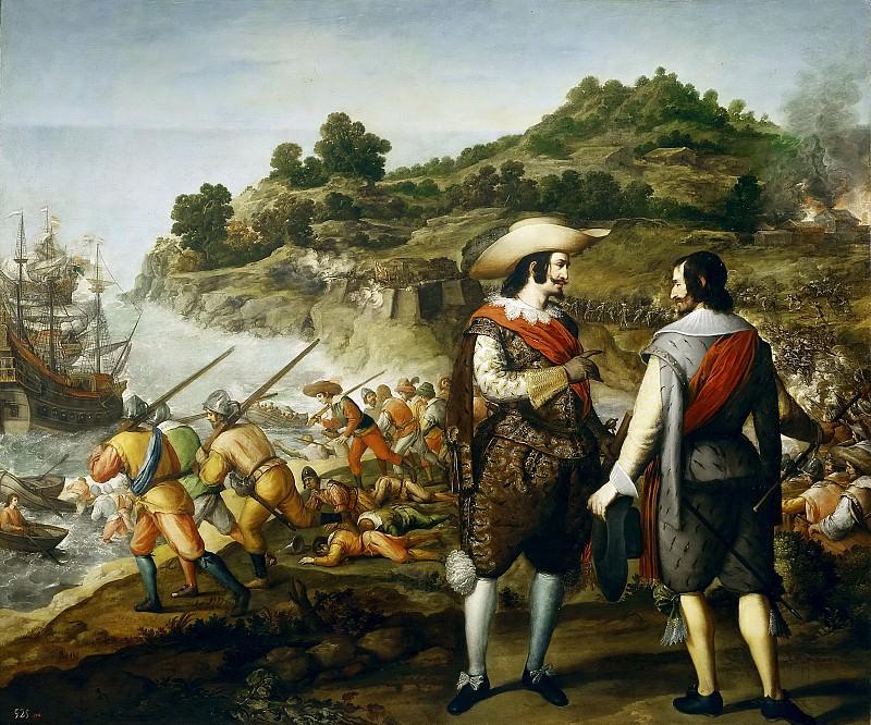 Cajés, Eugenio -- Recuperación de San Juan de Puerto Rico. Part 2 Prado Museum