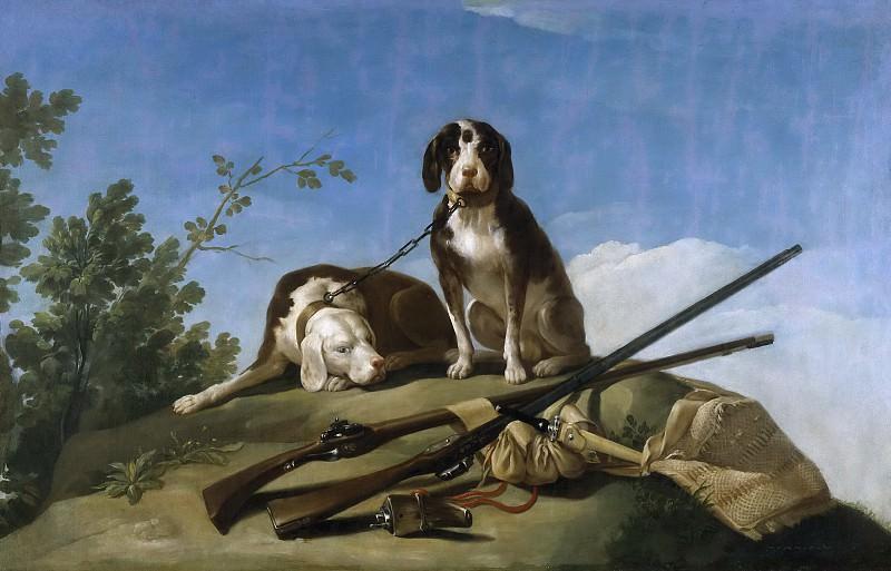 Goya y Lucientes, Francisco de -- Perros en traílla. Part 2 Prado Museum