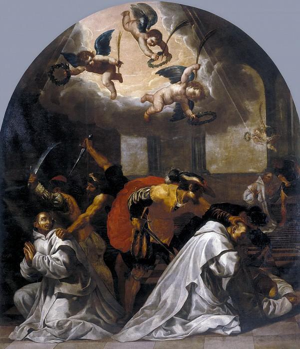 Carducho, Vicente -- Martirio de cuatro monjes en la cartuja de Roermond. Part 2 Prado Museum