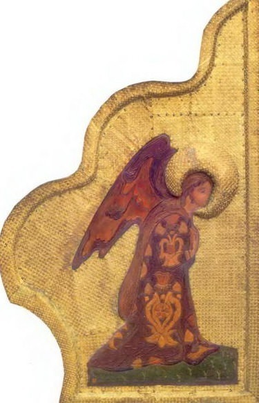 Perm iconostasis. Royal Doors with the shadow of the gate. Annunciation. Angel Gabriel. Roerich N.K. (Part 1)