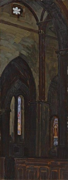 Riga cathedral interior (Interior Cathedral)].. Roerich N.K. (Part 1)