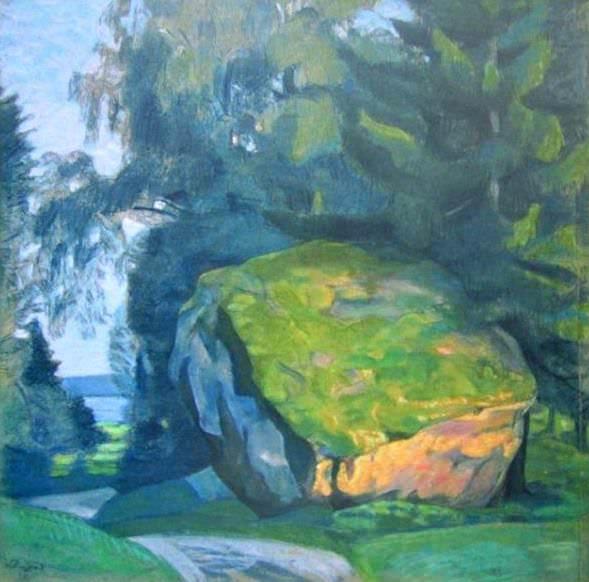 Пейзаж с придорожным камнем. Рерих Н.К. (Часть 1)