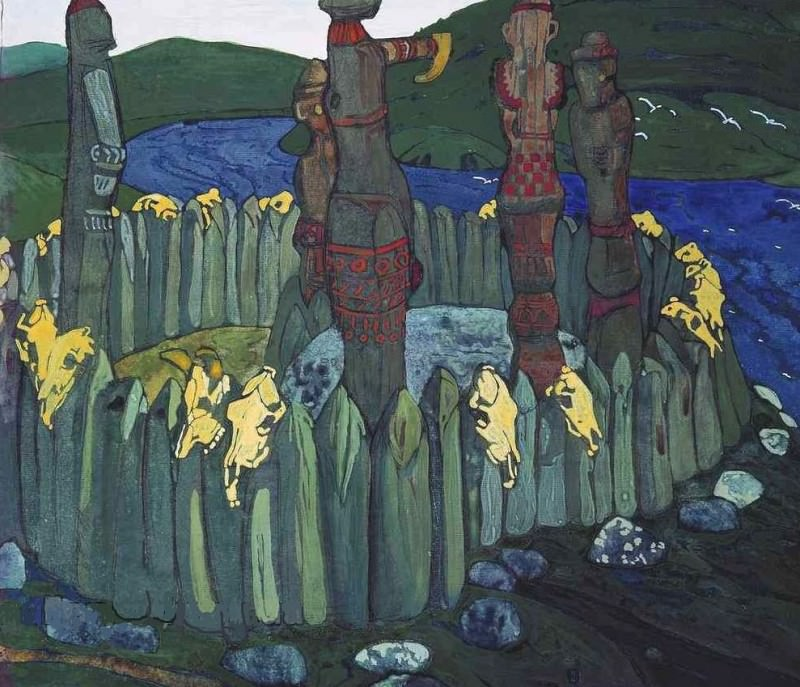 Idols (sketch). Roerich N.K. (Part 1)