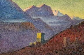 Himalayas. Slope. Tower. Roerich N.K. (Part 1)