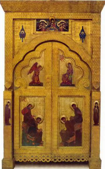 Perm iconostasis. Royal gates with gate shadow. Roerich N.K. (Part 1)