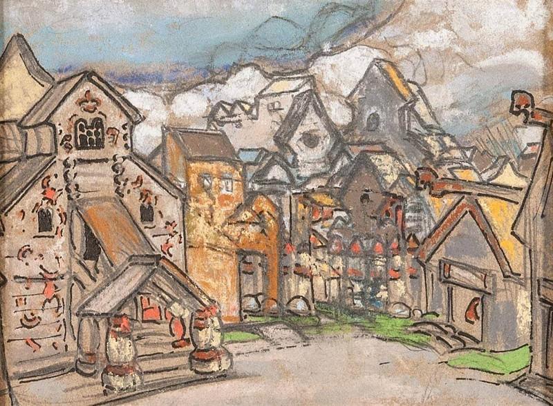 Tower. Yard Prince Vladimir Galitskogo. Roerich N.K. (Part 1)