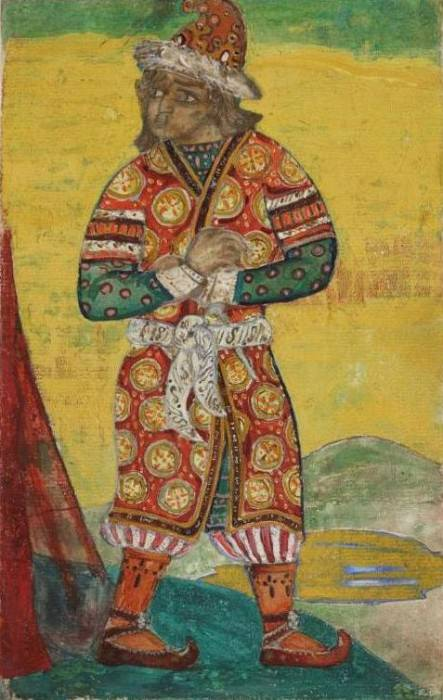Sketch of costume Ovlur (Ovlur, Polovets). Roerich N.K. (Part 1)