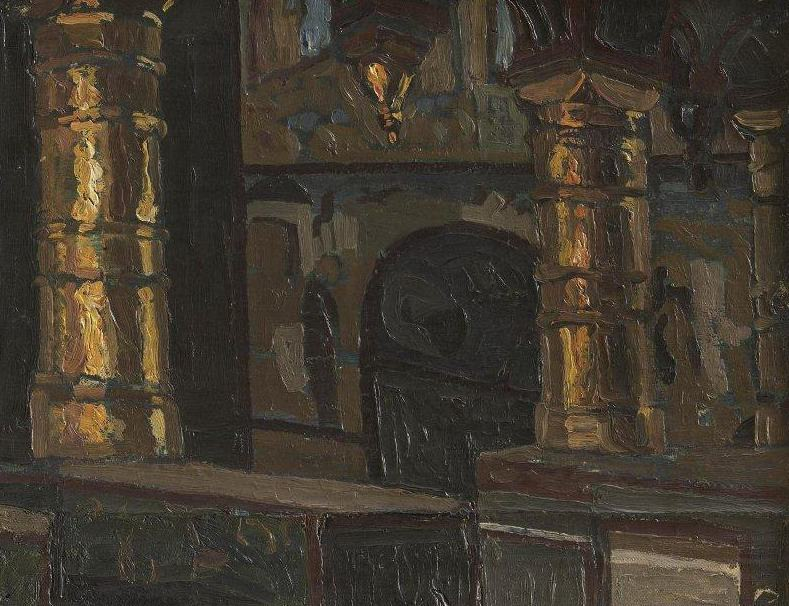 Rostov. Interior of the Church of the Savior (1). Roerich N.K. (Part 1)