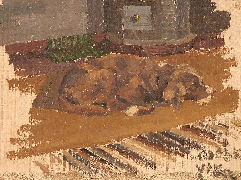Dog gone (sketch). Roerich N.K. (Part 1)