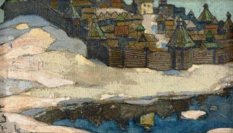 Town winter. Roerich N.K. (Part 1)