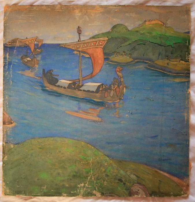 Overseas visitors (sketch). Roerich N.K. (Part 1)