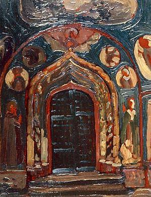 Yaroslavl. The porch of the Church of St. John the Baptist. Roerich N.K. (Part 1)