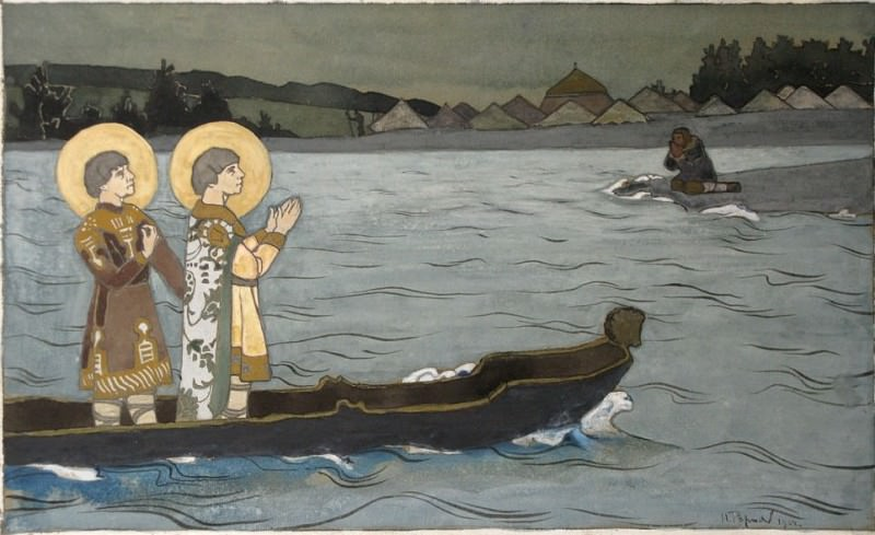 The Saints Boris and Gleb (Vision in the boat). Roerich N.K. (Part 1)