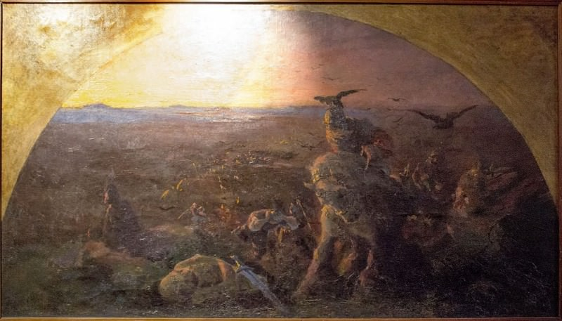 Evening heroism Kiev (sketch fresco on bylina). Roerich N.K. (Part 1)