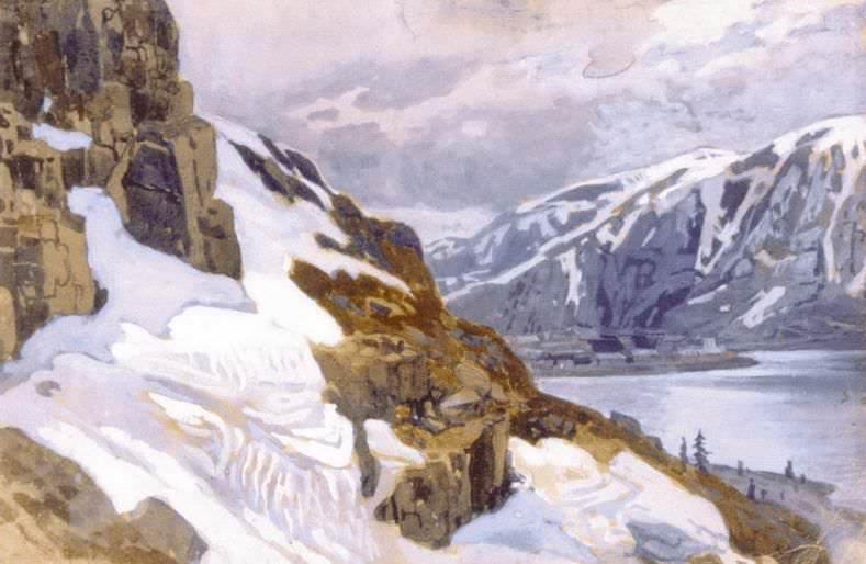 Mountain landscape. Alpes. Roerich N.K. (Part 1)
