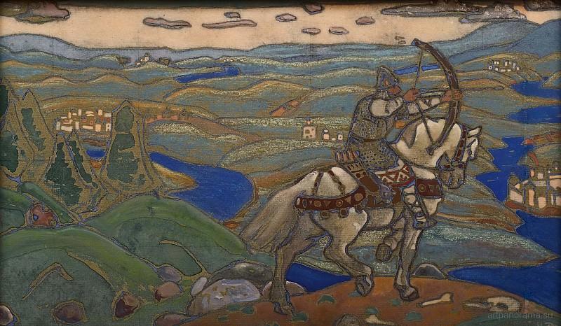 Ilia Murometz (panels sketch). Roerich N.K. (Part 1)