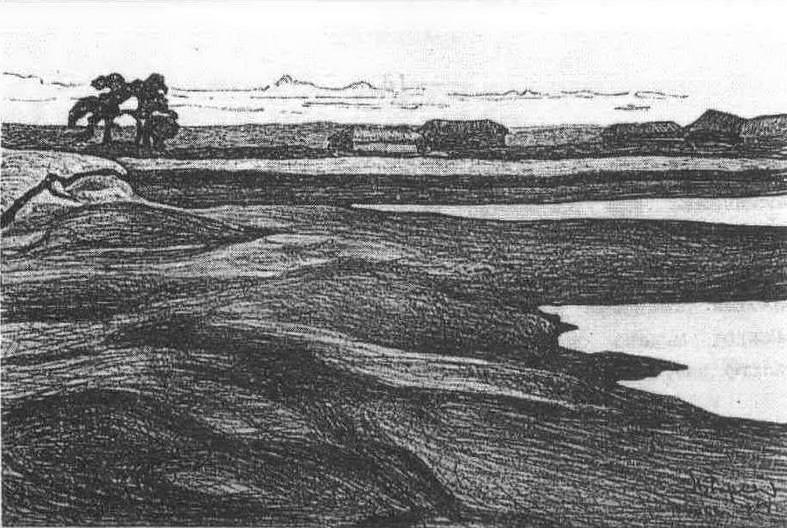Lake Velye (Lake Piros; lake Valday). Roerich N.K. (Part 1)