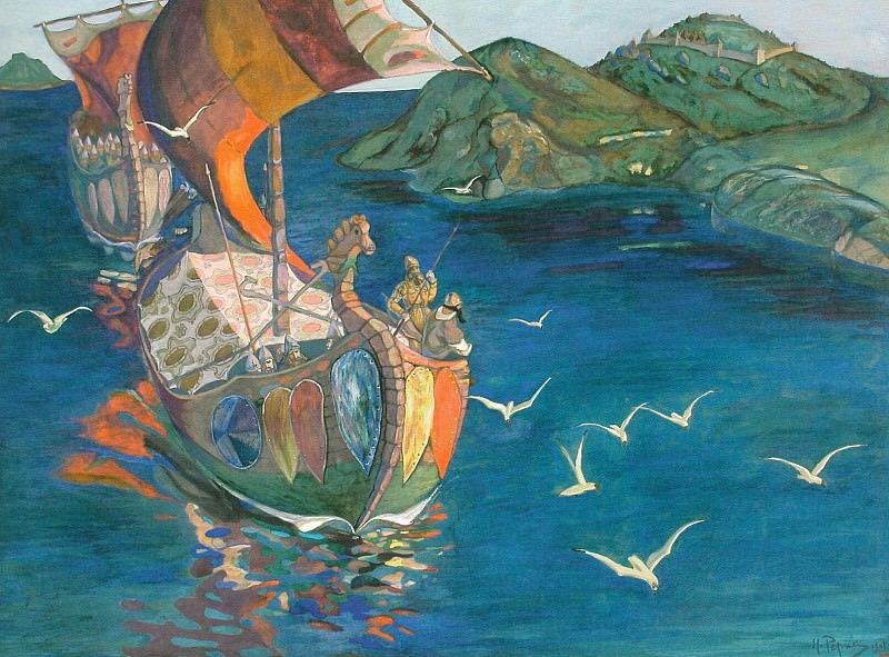 Overseas visitors (Red Sails) (4). Roerich N.K. (Part 1)