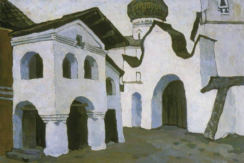 Pskov graveyard (Spaso-Mirozhsky Monastery in Pskov). Roerich N.K. (Part 1)