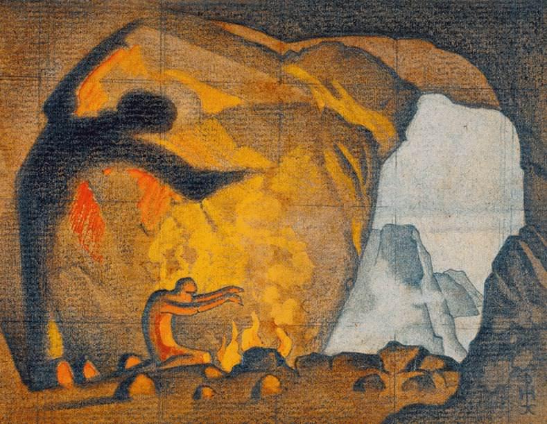 Spell fire. Sketch. Roerich N.K. (Part 1)