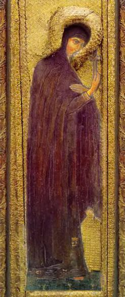 Perm iconostasis. Royal Doors with the shadow of the gate. Holy Great. Roerich N.K. (Part 1)