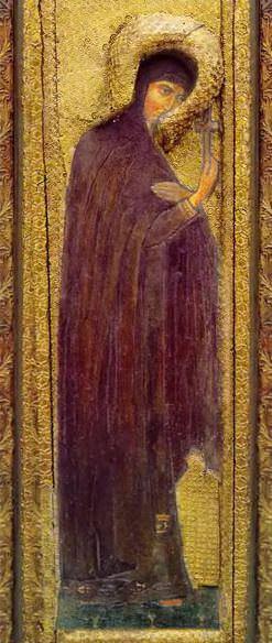 Пермский иконостас. Царские врата с надвратной сенью. Святая Великомученица. Рерих Н.К. (Часть 1)