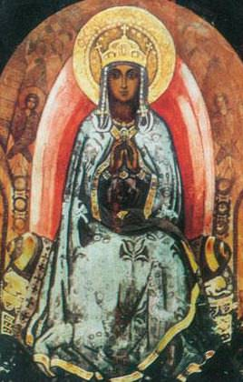 Queen of Heaven. Sketch for the church of the Holy Spirit in Talashkino. Roerich N.K. (Part 1)