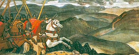Volga Svyatoslavich (decorative panels). Roerich N.K. (Part 1)