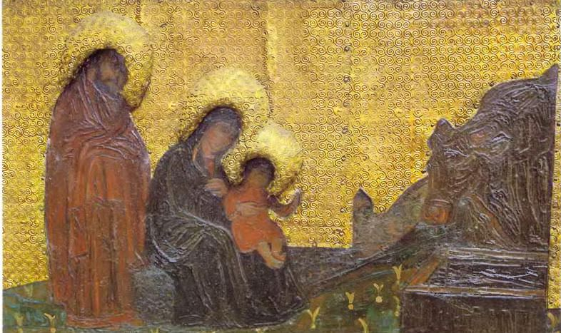 Perm iconostasis. Marian feast days. Adoration of the Magi. Holy Family. Roerich N.K. (Part 1)
