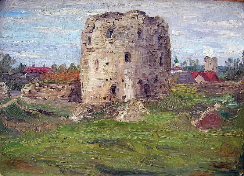 Study Pskov tower. Roerich N.K. (Part 1)