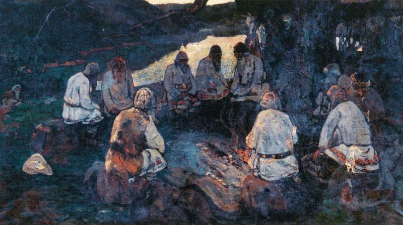 Gathering elders (sketch for homonymous painting). Roerich N.K. (Part 1)