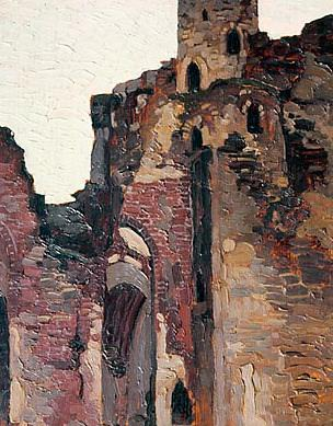 Wenden. The ruins of the chapel (Livonian Castle. Cesis, Latvia). Roerich N.K. (Part 1)