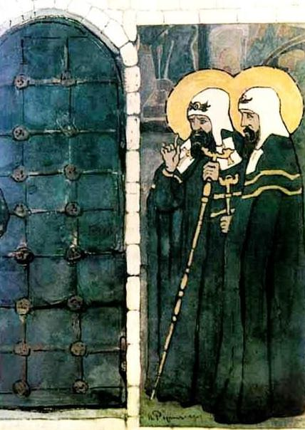 Study for the door (Lord of otherworldly). Roerich N.K. (Part 1)