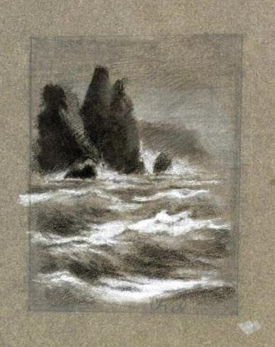 The sea cliffs at night. Roerich N.K. (Part 1)