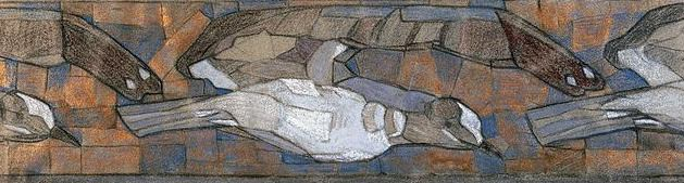 Seagulls (sketch for the frieze). Roerich N.K. (Part 1)