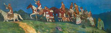 Knjazhaja hunting. Night (The return from the hunt). Roerich N.K. (Part 1)